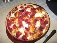 Raspberry French Toast Bake - I would mix the cream cheese with a little sugar first, but other than that, it was good.