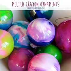 Melted Crayon Ornaments