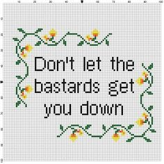 Don't Let the Bastards Get you down  Instant by SnarkyArtCompany