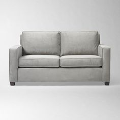 Henry Loveseat - Performance Velvet in Dove Gray for $699 with delivery by West Elm