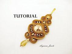 TUTORIAL SOUTACHE CROCE semplice - diy cross pendant - YouTube