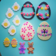 Easter ornaments hama beads by michelebayolsen