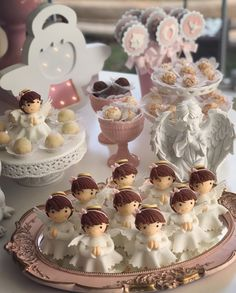 First Holy Communion, Pasta Flexible, Holi, Biscuits, Place Card Holders, Baby Shower, Candy, Creative, Girl Baptism Party