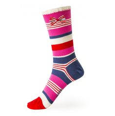 Boating Stripe Cotton Ankle Sock #Fashion #AnkleSock #IrishDesign