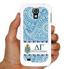 Delta Gamma Samsung Galaxy S4 White Plastic Slim Case - Paisley Print Design VictoryStore http://www.amazon.com/dp/B00IKS6BNE/ref=cm_sw_r_pi_dp_kd37vb1CFPG22