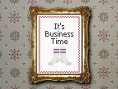 Business time  Flight of the Conchords cross by XStitchesBeCrazy, £2.50