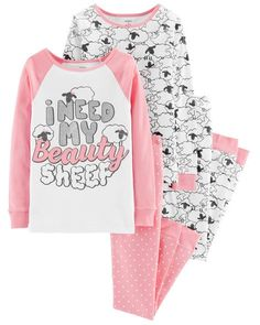 Give her fun bedtime style with this girls' Carter's tops and bottoms pajama set. Latest Tops For Jeans, Carters Baby Clothes, Kids Nightwear, Cute Pjs, Cotton Pjs, Winter Dress Outfits, Girls Pajamas, Little Girl Fashion, Toddler Girl Outfits