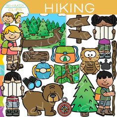 Talk a walk through the woods with fun collection. You will receive 34 high-quality image files, which includes 17 color images and 17 black & white images in 300dpi png. This set is also part of a larger: Nature BundleThis set includes:BackgroundBackpackBearBinoculars(2) kids hiking - 1 boy, 1 girl(2) kids reading a map - 1 boy, 1 girlCanteenCompassLogMapOwlPawSignTreeWalking stickTerms of Use:  The clip art may be used in educational commercial products. $4.95