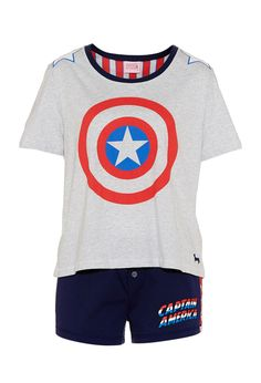 Captain America Pj Set | Peter Alexander