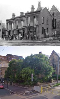 150-152 Bourke Street, Darlinghurst in 1923 and 2009. [1923 - City of Sydney Archives/2009 - Google Street View/by Phil Harvey] Phil Harvey, Surry Hills, As Time Goes By, Environmental Education, Amazing Pics, Old City, Historical Photos, Continents, Old Photos