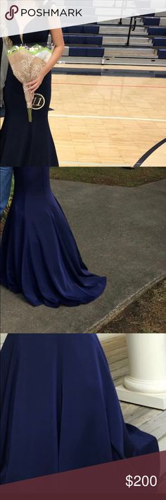 Sherri hill prom dress Worn once and in great condition! Has a long train! This app cropped the pics so it's hard to see. Sherri Hill Dresses Prom