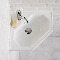 Burlington Corner Wall Mounted Cloakroom Basin - B10 at Victorian Plumbing UK