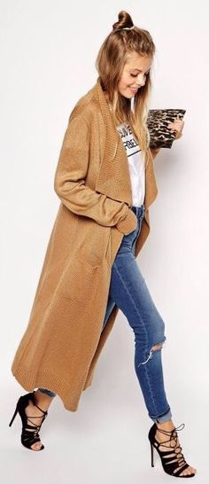 Camel Maxi Cardigan by They All Hate Us