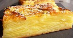 Gâteau invisible aux pommes. Un gâteau léger avec des pommes fondantes. Ce gâteau est si riche en fruits qu'on devine à peine la pâte, d'où le nom de « gâteau invisible ».. La recette par Rêves de pâtissière.