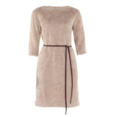 Beige teddy Jurk Curl Line Intense Camel van Vanilia | Dresses Only