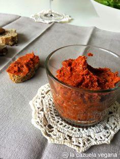 Paté de pimiento y tomates secos [Sobrasada vegana] | La Cazuela Vegana | Alimentación 100% vegetal y saludable