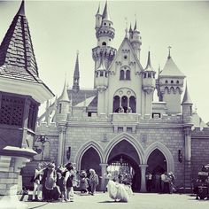 Disneyland Castle from 1955.
