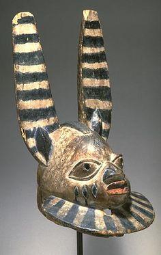 Efe/Gelede Headdress, Apasa Nigeria, Yoruba, Ohori. Late 19th - early 20th centuries A.D. Wood, pigment #Africa #African #Yoruba