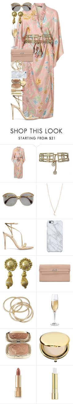 A girl likes to be crossed a little in love now and then. It is something to think of. by quiche on Polyvore featuring moda, Gianvito Rossi, Hermès, ABS by Allen Schwartz, Oscar de la Renta, Minor Obsessions, Chanel, Uncommon, Dolce&Gabbana and Estée Lauder