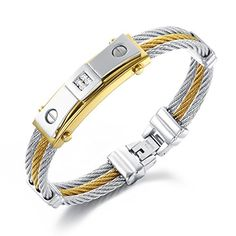 Girl Era 4 Diamond Inside 3-Strands Rope Titanium Steel Bracelets Mens/Womens - http://www.jewelryfashionlife.com/girl-era-4-diamond-inside-3-strands-rope-titanium-steel-bracelets-menswomens/