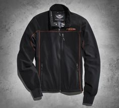 Let him laugh in the wind in this multi-layer fleece. | Harley-Davidson Men's Mid-Layers Windproof Fleece