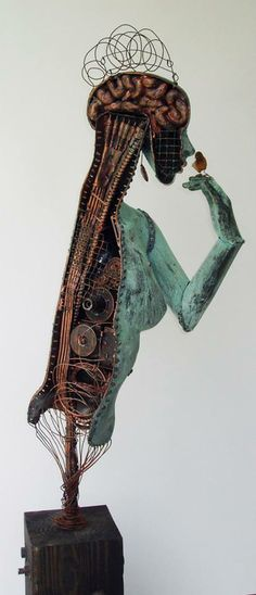 Post-Industrial Trans-Human  Sculpture #art