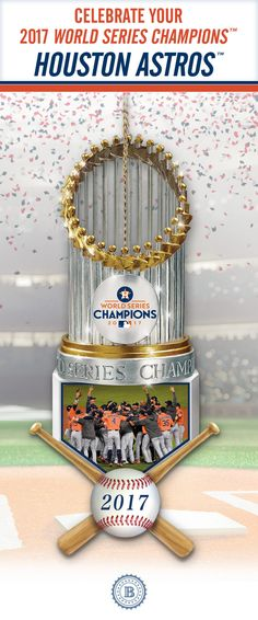 Shop The Bradford Exchange for World Series Champions Astros Trophy Ornament Collection. Major League Baseball is alive with excitement as the 2017 World Series Champions™ Houston Astros™ celebrate their epic victory. Astros World Series, World Series 2017, Minute Maid Park, Diamond Dreams, Houston Astros, Major League, Xmas Gifts, Chicago Cubs, Congratulations