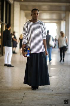 Man in skirt. Superstylish. Period.