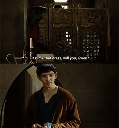 LOL Merlin would never be able to tell anyone how he met Morgana.