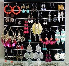 Getting Organized-DIY- Earring & Necklace Holder - Craft-O-Maniac