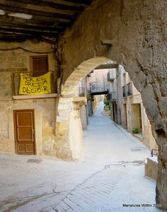 Cool street in Horta de Sant Joan-Barcelona, Spain