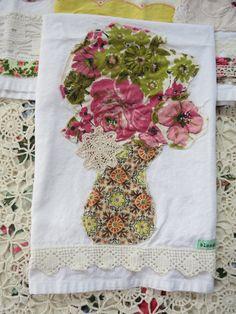vintage fabric tea towel no. 4. $19.00, via Etsy.
