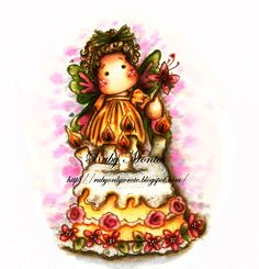 Watercoloring Inspiration Magnolia Stamps used #435 Summer Cake, #231 Summer Flower Tilda. # Ruby Montes #and that's all she wrote #Distress Inks: http://rubyonlywrote.blogspot.com/