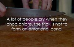 I always cry when I chop onions - anyone got any good tips to stop that from happening? #SAHM
