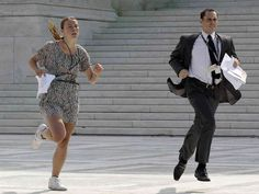The Supreme Court health care ruling prompted a foot race outside the court right after the ruling came down. Pretty funny read.