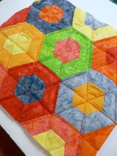 Учебное пособие: Пэчворк шестиугольник с креном