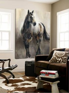 'Copper and Nickel' Loft Art - Marilyn Hageman | Art.com Horse Drawings, Art Drawings, Horse Artwork, Horse Wall Art, Equestrian Decor, Equine Art, Beautiful Horses, Painting Inspiration, Find Art
