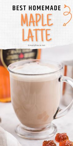 Maple Latte - What could be more Canadian than a sweet maple flavoured latte? This is the perfect afternoon treat when you are craving a warm sweet drink! Latte Flavors, Automatic Espresso Machine, Latte Recipe, Holiday Drinks, Espresso Coffee, Cravings, Easy Meals, Treats, Homemade