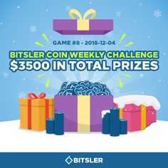 0.9162 #bitcoin - Weekly Bitsler Coin Challenge #8! It's 100% #free and open to ALL players so don't miss out on your chance at winning a share of the $3500 prize pool! 100 Free, Promotion, Coins, Challenges, Games, Rooms, Gaming, Plays, Game