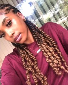 Braided Hairstyles For Black Women Cornrows, Protective Hairstyles For Natural Hair, Twist Braid Hairstyles, Braids For Black Hair, Braided Ponytail, Twist Braids, Curly Hair Tips, Curly Hair Styles, Natural Hair Styles