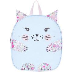 Monsoon Marsha Cat Backpack ($18) ❤ liked on Polyvore featuring bags, backpacks, backpack bags, day pack backpack, knapsack bag, monsoon bags and blue backpack