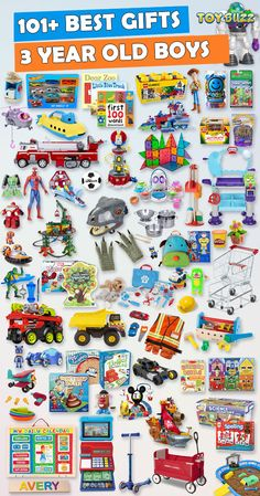 Browse our Gift Guide featuring Best Toys For 3 Year Olds. Discover educational toys, unique kids gifts, kids games, kids books, and more for your 3 year old boy. Make his Birthday or Christmas extra magical with these delightful picks he'll love! Best Gifts For Boys, Cool Toys For Boys, Unique Gifts For Kids, Presents For Boys, Kids Gifts, Unique Toys, 3 Year Old Birthday Gift, Birthday Gifts For Boys, Birthday Games