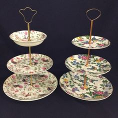 Perfect for tea time. #tieredcakestands  #vintage