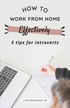 How to work from home effectively when you& an introvert. Learn techniques to aid in your productivity and focus and enjoy working from home. Work From Home Tips, Make Money From Home, How To Make Money, Work Productivity, Time Management Tips, Home Jobs, Working Moms, Home Hacks, Business Tips