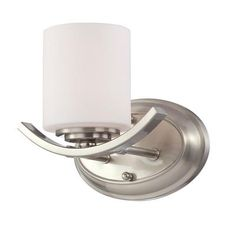 Eurofase - Beam Collection 1 Light Satin Nickel Wall Sconce - 23055-025 - Home Depot Canada
