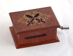 Game of Thrones Song of Ice and Fire soundtrack and design inspired handmade wooden music box with melody paper strip