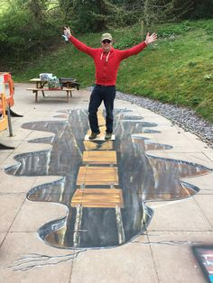 3d anamorphic art Anamorphic, Stepping Stones, 3d, Outdoor Decor, Collection