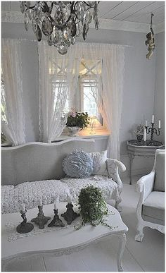 Living Room Decorating Ideas on a Budget - Living room shabby chic Rustic French country decor idea . *** Repinned from Natalia Babilon ***.