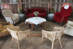vintage lounge furniture provided by Matt Rowland Events Lounge Furniture, Outdoor Furniture Sets, Outdoor Decor, Tent Wedding, Wedding Venues, Chairs For Rent, Wedding Consultant, Site Design, Wedding Supplies
