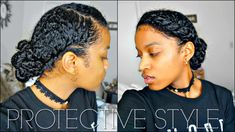 Flat Twisted Crown Protective Style + How to Layer Products For Protection on Natural Hair [Video] - https://blackhairinformation.com/video-gallery/flat-twisted-crown-protective-style-layer-products-protection-natural-hair-video/